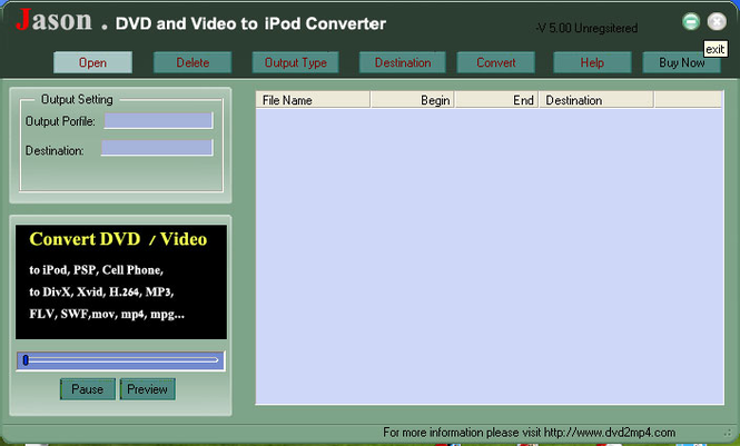 Jason DVD Video to Mac iPod Converter Screenshot