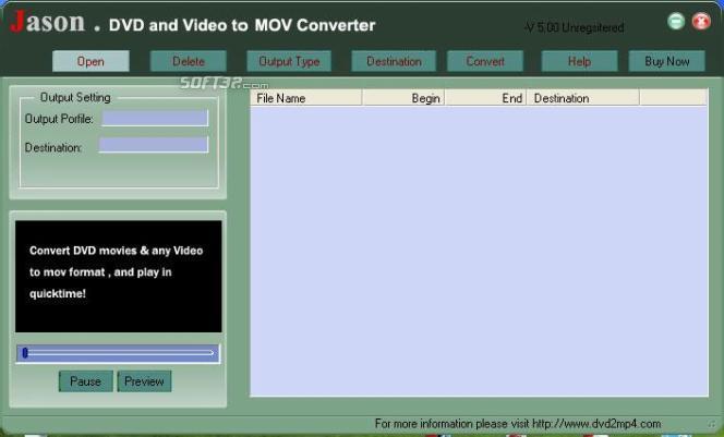 Jason DVD Video to MOV Converter Screenshot 3