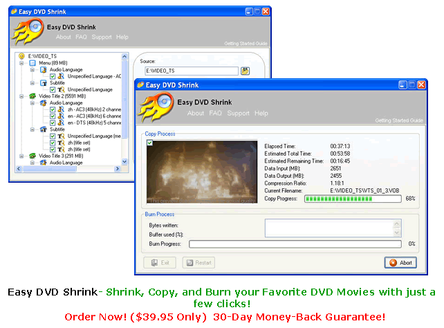 Easy DVD Shrink Screenshot 1