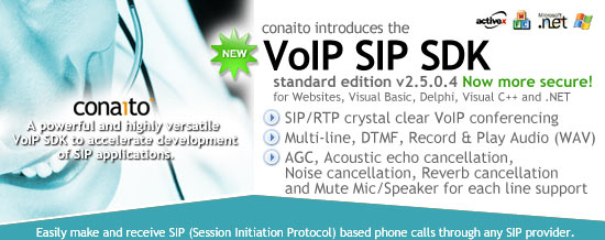 VoIP SIP SDK with DLL, ActiveX and .NET Screenshot 2