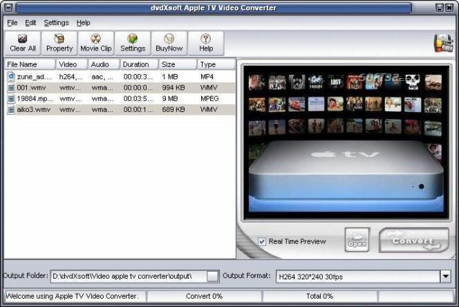 X-Soft Apple TV Video Converter Screenshot 3