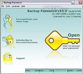 LastBIt Backup Password Recovery Screenshot 3