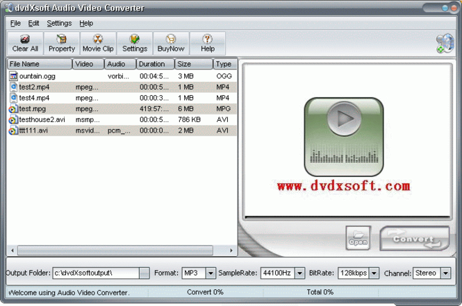 X-Soft Audio Video Converter Screenshot