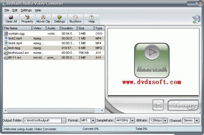 X-Soft Audio Video Converter Screenshot 1
