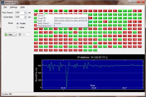 Network Ping Screenshot