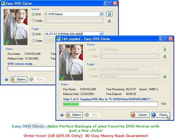 Easy DVD Clone Screenshot 3