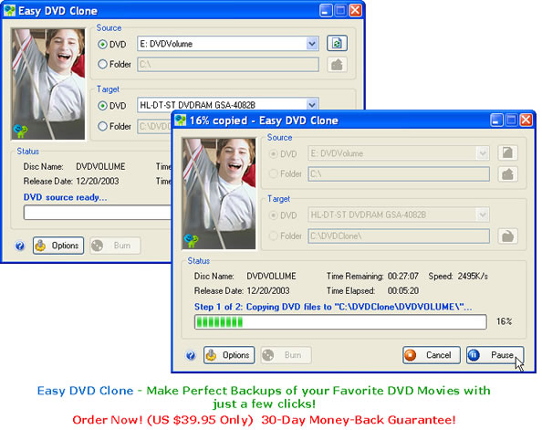 Easy DVD Clone Screenshot