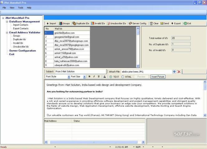 iNetMassMail Pro Screenshot 1