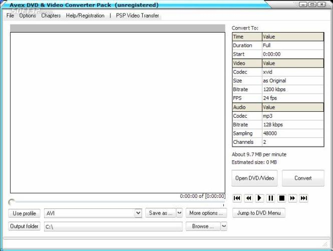 Avex DVD and Video Converter Pack Screenshot 2