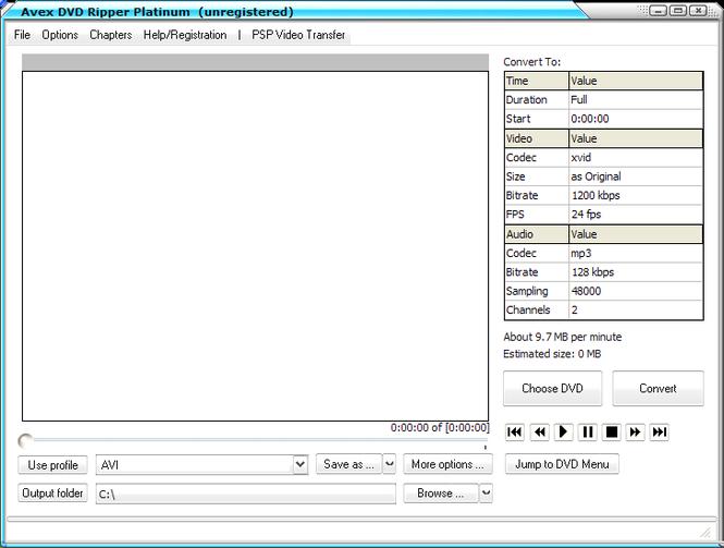 Avex DVD Ripper Platinum Screenshot 1