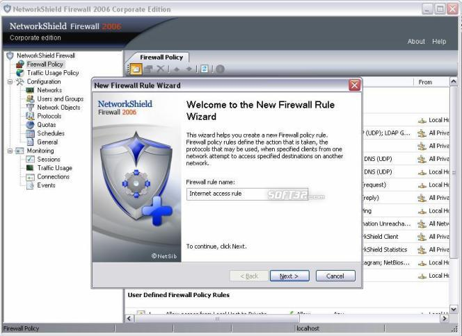 Network Firewall Application Screenshot