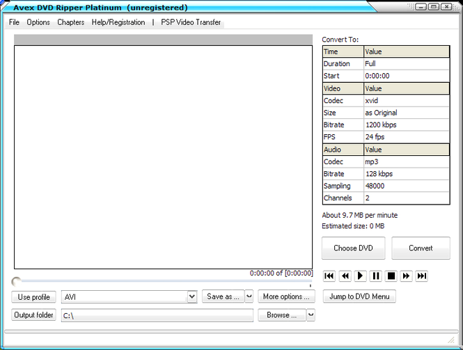 Avex-DVD Ripper Platinum Screenshot