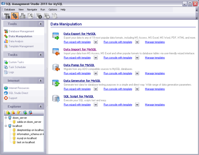 EMS SQL Management Studio for MySQL Screenshot