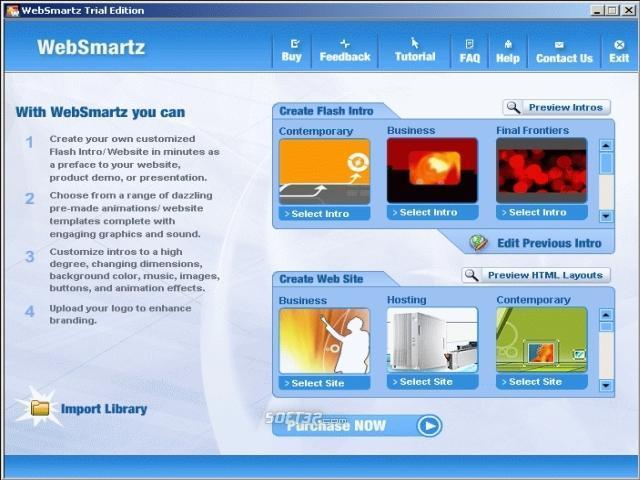 Websmartz Website Builder Screenshot 2