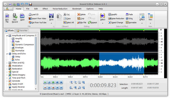 Sound Editor Deluxe 2009 Screenshot 1
