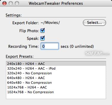 WebcamTweaker Screenshot 2
