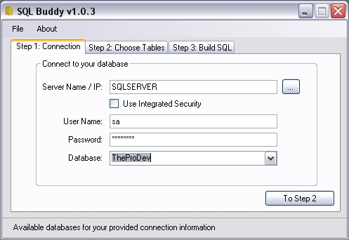 SQL Buddy Lite Screenshot