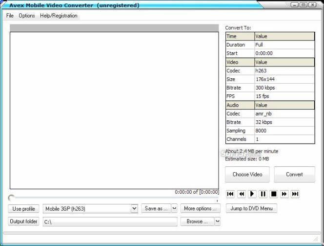 Avex-Mobile Video Converter Screenshot 3