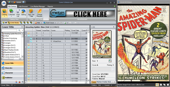 Comic Collector Live Screenshot 1
