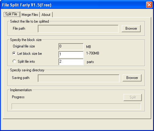 File Split Fairy Screenshot
