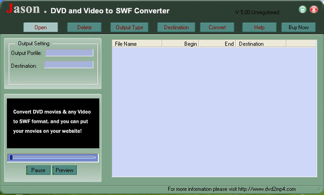 Jason DVD Video to SWF Converter Screenshot 1