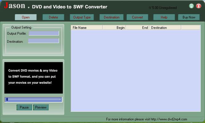 Jason DVD Video to SWF Converter Screenshot