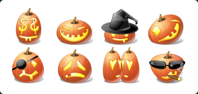 Icons-Land Vista Style Halloween Pumpkin Emoticons Screenshot