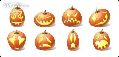 Icons-Land Vista Style Halloween Pumpkin Emoticons Screenshot 3