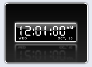 Digital Desktop Clock Screenshot