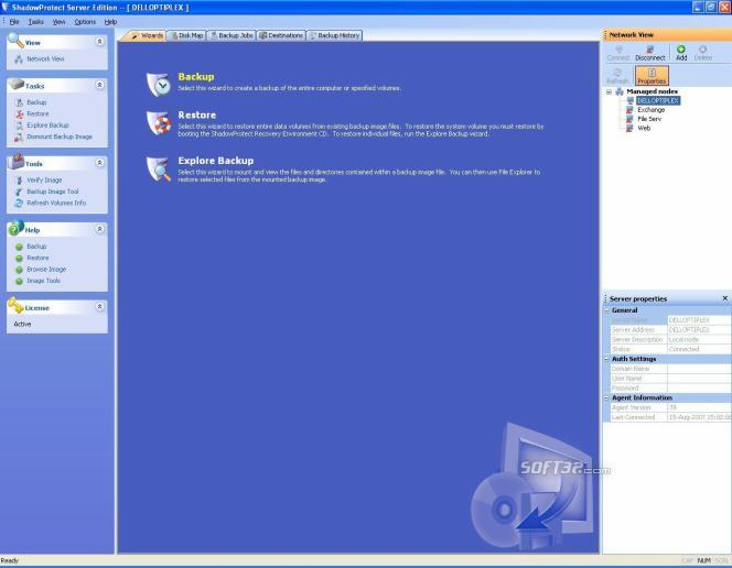 ShadowProtect Small Busine Server Screenshot 2