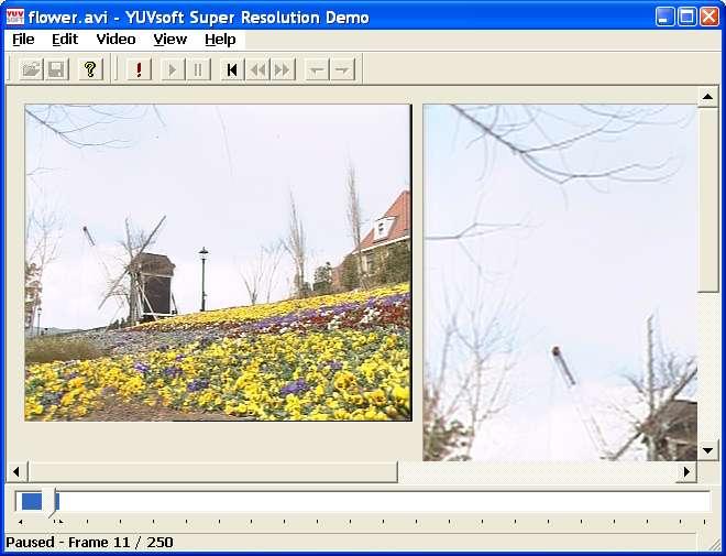 YUVsoft Super Resolution Demo Screenshot