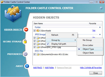 Folder Castle Screenshot