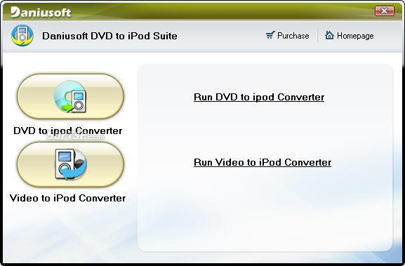 Daniusoft DVD to iPod Suite Screenshot
