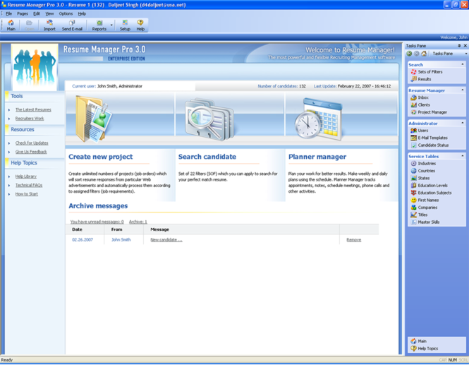 Resume Manager Pro Screenshot