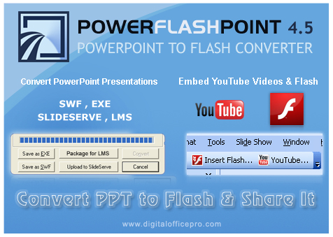 Convert PowerPoint to Flash : PowerFlashPoint Screenshot