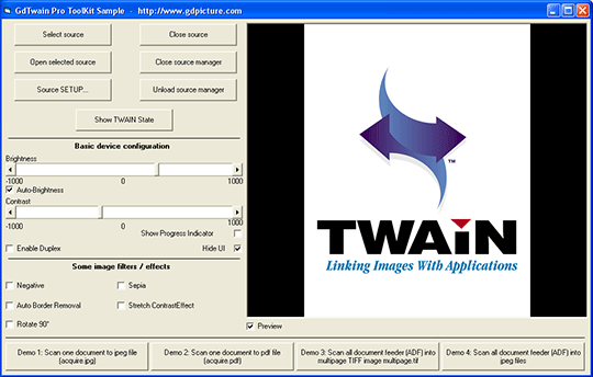 GdTwain Pro SDK Screenshot 1