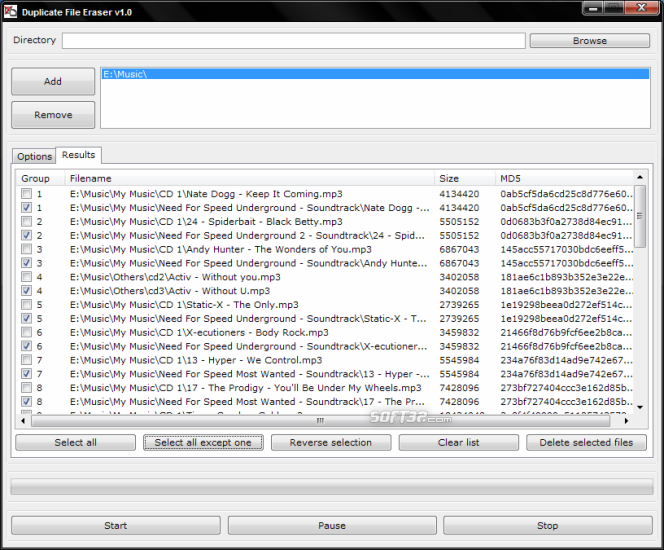 Duplicate File Eraser Screenshot 2