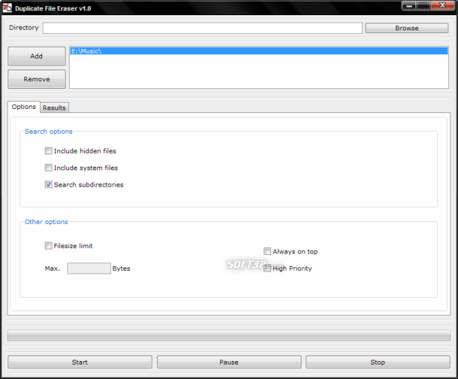 Duplicate File Eraser Screenshot 3