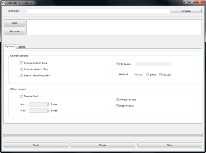 Duplicate File Eraser Screenshot 1