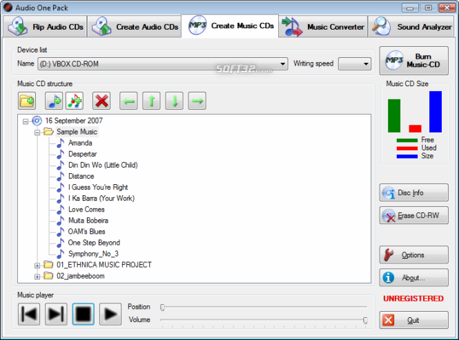 Audio One Pack Screenshot