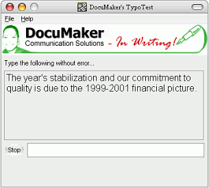DocuMaker's TypoTest Screenshot