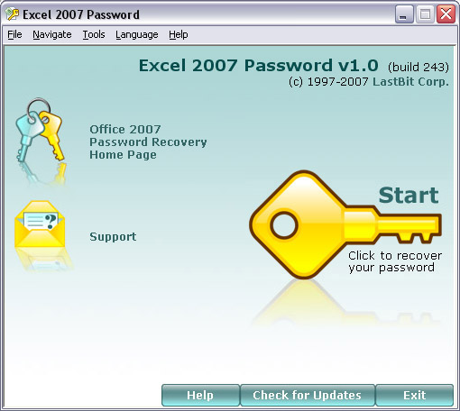 Excel 2007 Password Screenshot 1