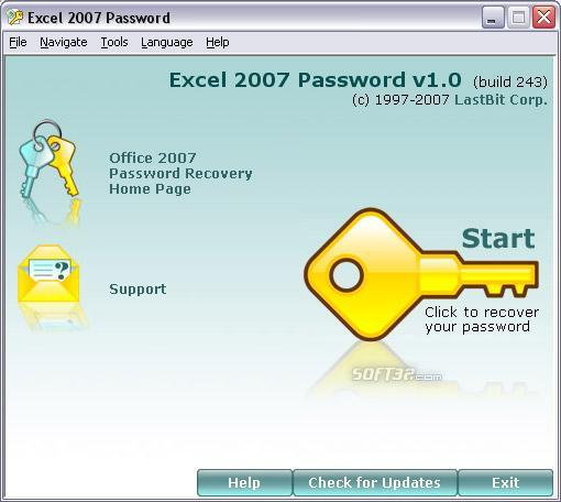 Excel 2007 Password Screenshot 3