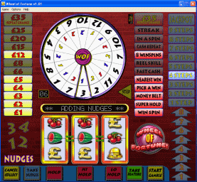 Wheel of Fortune Fruit Machine Screenshot