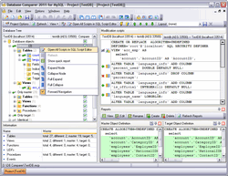 EMS DB Comparer for MySQL Screenshot