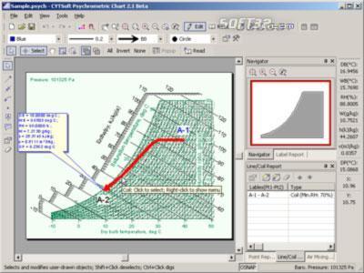 CYTSoft Psychrometric Chart Screenshot 2