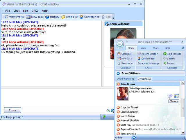 LIVECHAT Communicator Screenshot 1