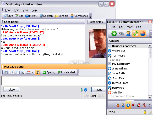 LIVECHAT Communicator Screenshot 2