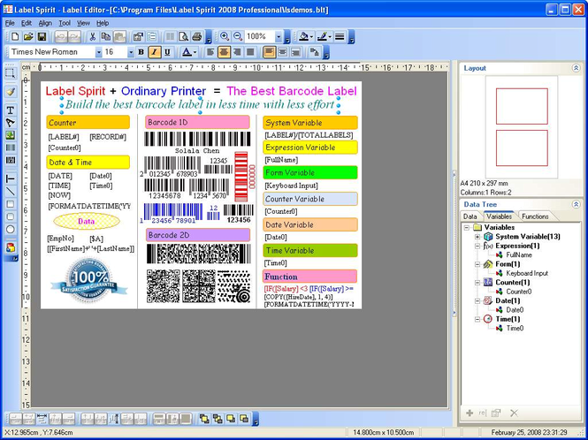 Label Spirit Professional 3-User Screenshot