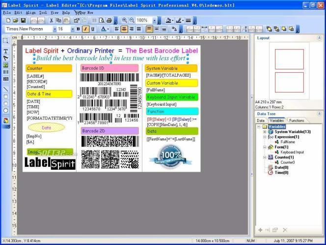 Label Spirit Professional 10-User Screenshot 2